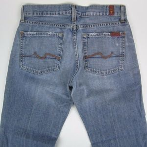 7 For All Mankind Jeans - 7 For All Mankind Flare Stonewash Low Rise Womens